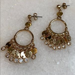 ettika Jewelry - Ettika Gold Hoop and Crystal Earrings